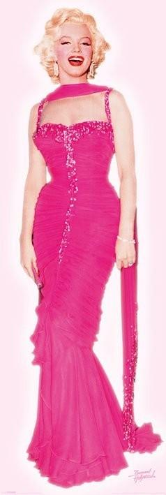MARILYN MONROE - pink dress Affiche