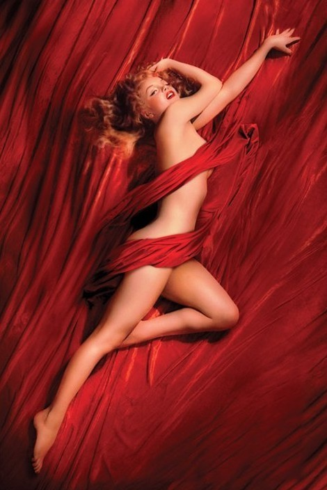 MARILYN MONROE - red isilk Affiche