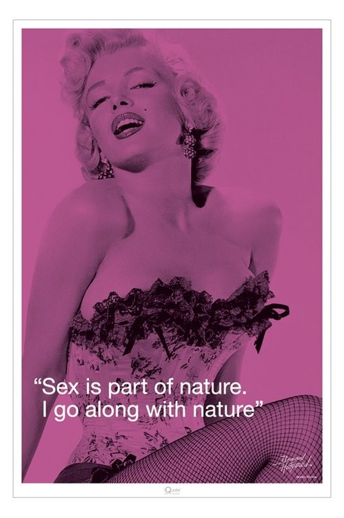 MARILYN MONROE - sex qupote Affiche