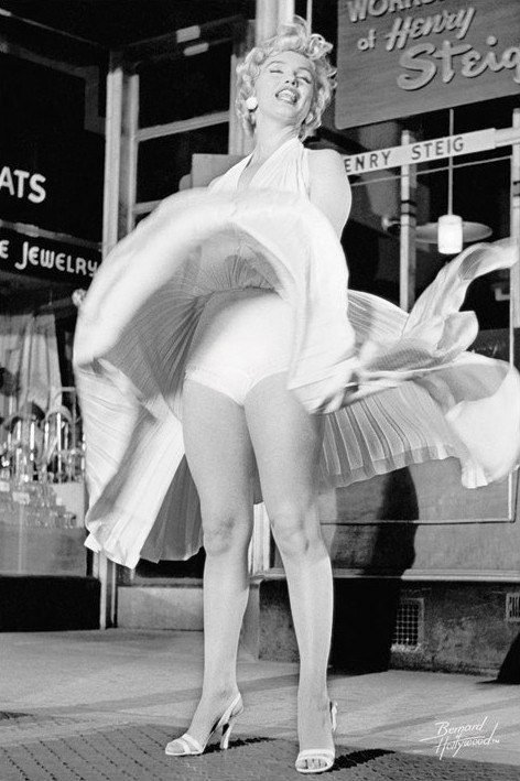 Marilyn Monroe - skirt up Affiche