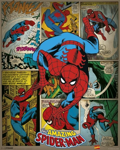 MARVEL COMICS – spider-man retro Affiche