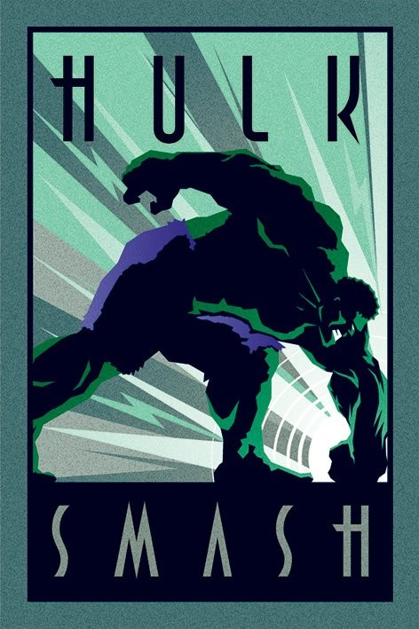 marvel deco hulk poster affiche acheter le sur. Black Bedroom Furniture Sets. Home Design Ideas
