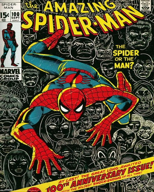 MARVEL - spider-man cover Affiche