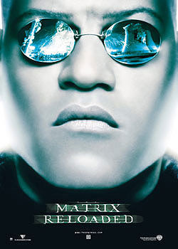 MATRIX - visage Morpheous Affiche