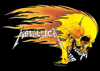 Metallica - flaming Affiche