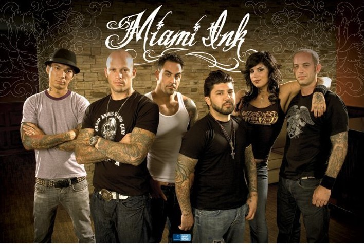 MIAMI INK - floral Affiche