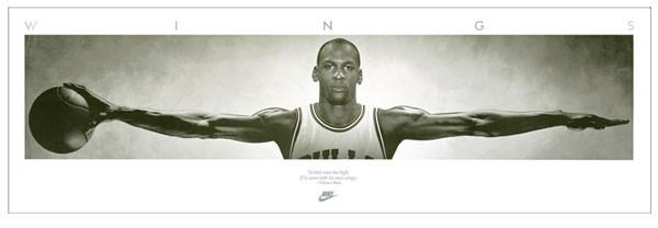 Michael Jordan - Wings, basketball Affiche