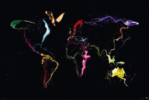 Michael Tompsett - World map Affiche