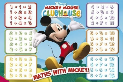 MICKEY MOUSE - maths Affiche