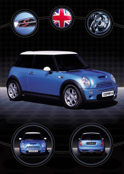 Mini coopers Affiche