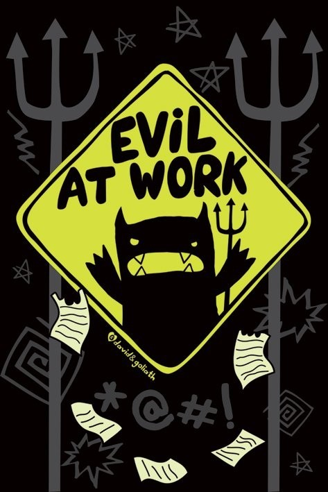 Monster mash - evil at work Affiche