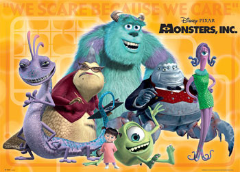 MONSTERS INC groupshot Affiche