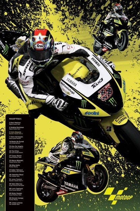 Moto GP - edwards Affiche