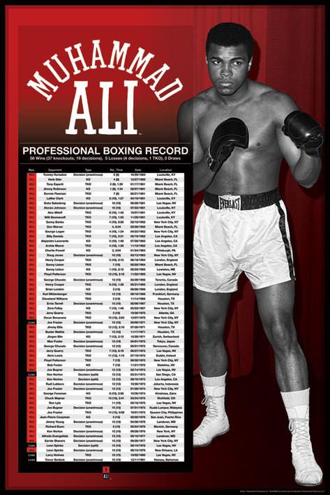 Muhammad Ali - professional boxing Affiche