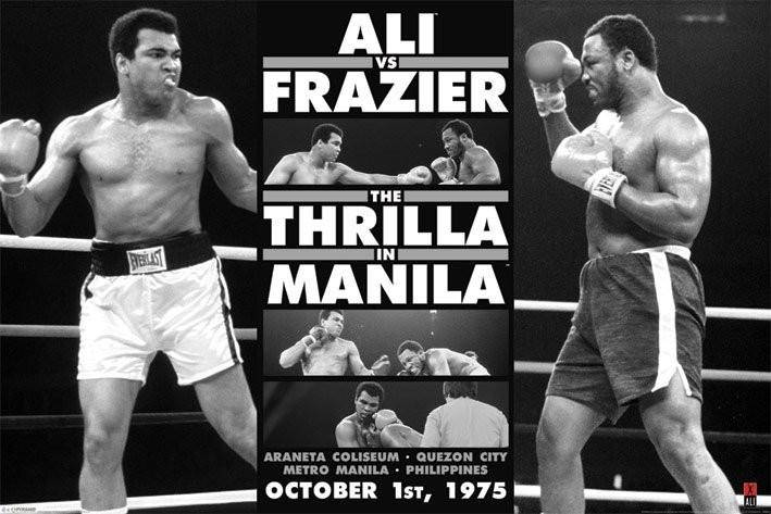 Muhammad Ali - thrilla in manila b/w Affiche