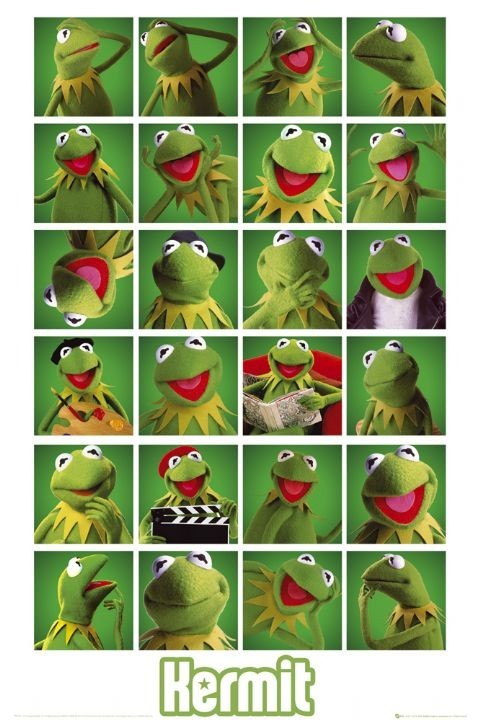MUPPETS - kermit collage Affiche