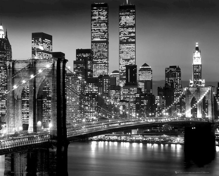 New york bridge b w poster affiche acheter le sur - Achat studio new york ...