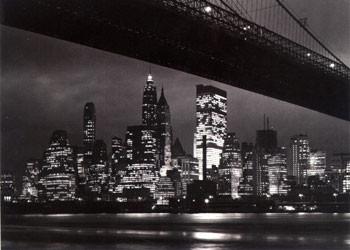 New York night - skyline Affiche