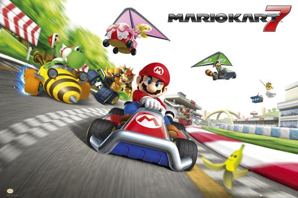 Nintendo - mario kart 7  Affiche