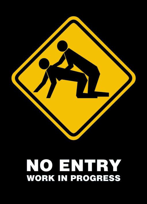 No entry Affiche