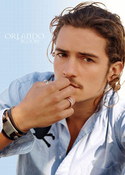 ORLANDO BLOOM - blue Affiche
