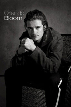 Orlando Bloom - sitting Affiche