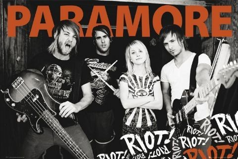 Paramore - group Affiche