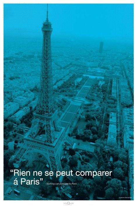 Paris - city quote Affiche