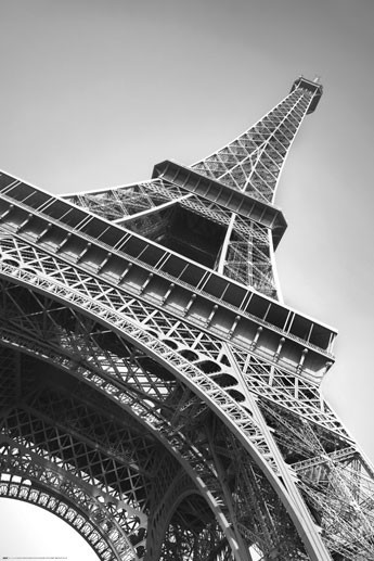 paris la tour eiffel poster affiche acheter le sur. Black Bedroom Furniture Sets. Home Design Ideas
