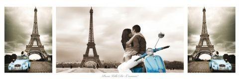 Paris - triptych Affiche