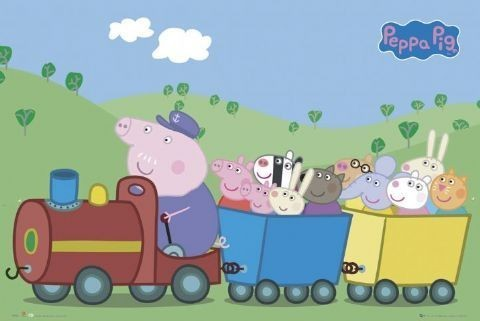 PEPPA PIG - tren Affiche