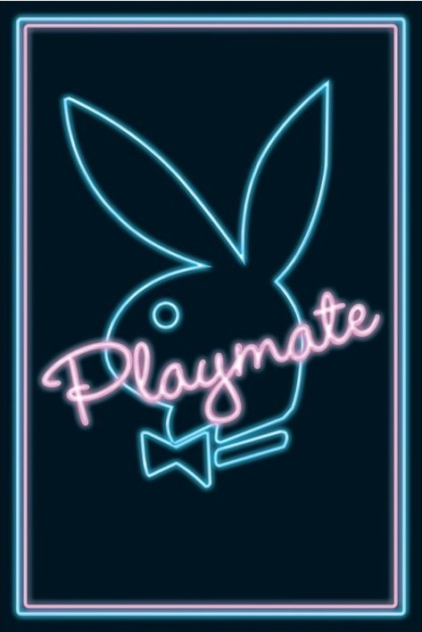 Playmate - neon Affiche