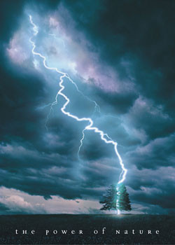Power of nature - lightning Poster