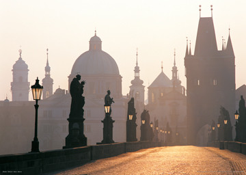 Prague – Charles bridge Affiche