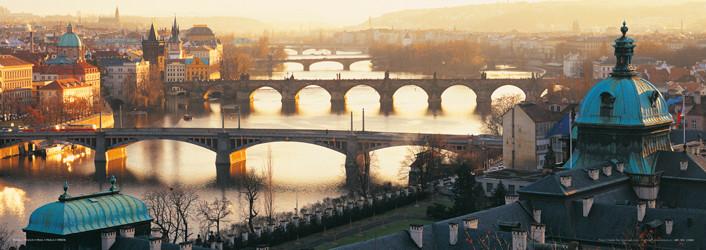 Prague - Pražské mosty Affiche