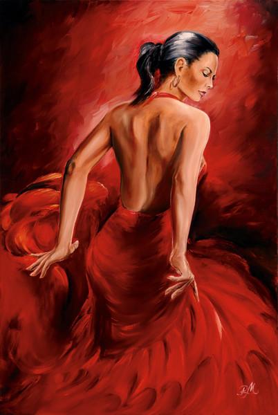 R. Magrini Flamenco - Red Dancer Affiche