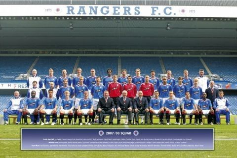 Rangers - Team photo 07/08 Affiche