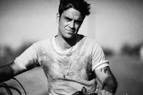 Robbie Williams - bike Poster