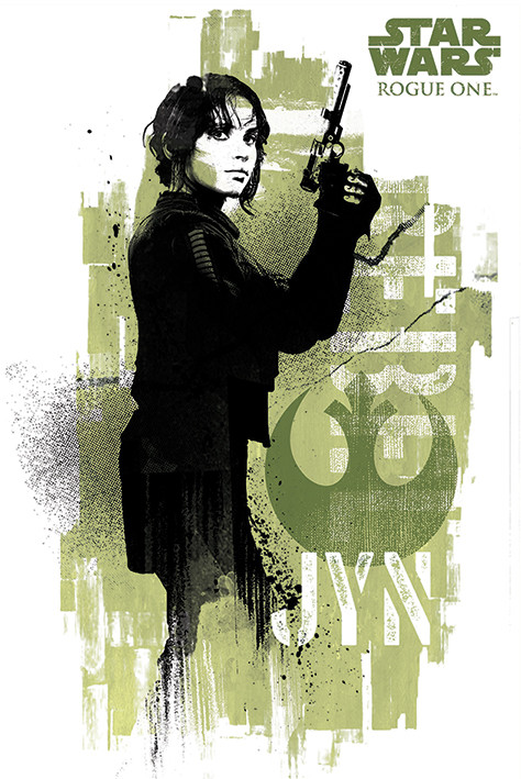Rogue One: Star Wars Story - Jyn Grunge Affiche
