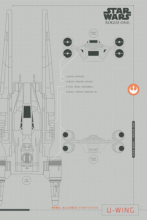 Rogue One: Star Wars Story - U-Wing Plans Affiche