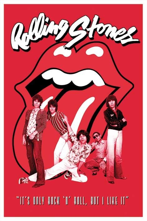 Rolling Stones - it's only Rock n roll Affiche