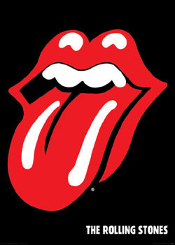 Rolling Stones - lips Affiche