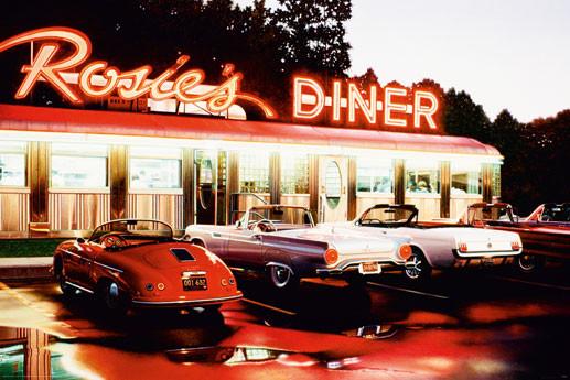 Rosie's diner - colour Affiche