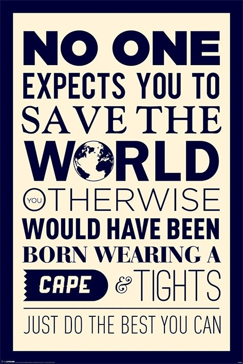 Save the world Affiche