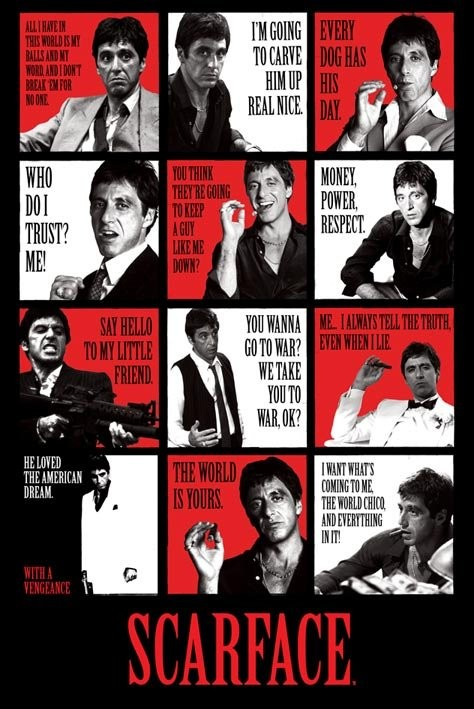 Scarface - quotes Affiche