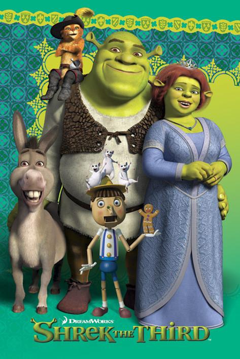 Shrek 3 - group Affiche
