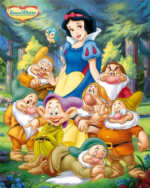 SNOW WHITE - and the seven dwarfs  Affiche
