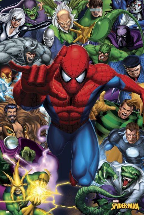 SPIDER-MAN - ennemies Poster