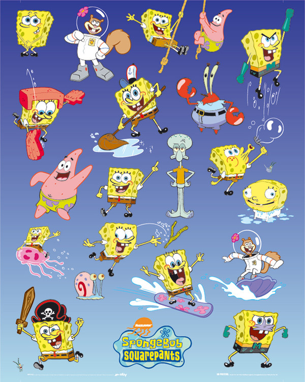 SPONGEBOB - multiple Affiche