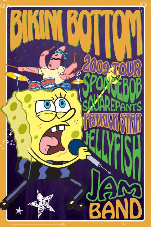 SPONGEBOB - rock Affiche